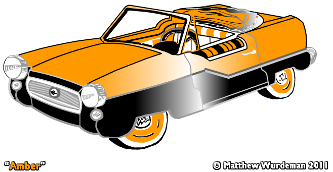 Amber Colored Car with Black Two Tone