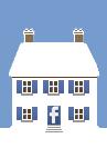 Social Media Icon House: Facebook