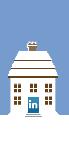 Social Media Icon House: LinkedIn