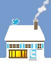 Social Media Icon House: Twitter