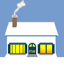Social Media Icon House: About.Me