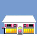 Social Media Icon House: Dribble