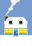 Social Media Icon House: FourSquare