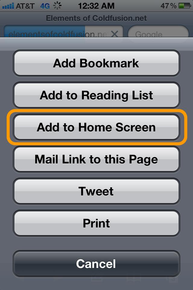 Screenshot_Add to Home Screen Button