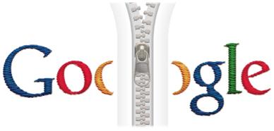 Screenshot of Tribute to Gideon Sundback Google Doodle