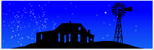 Screenshot of Silhouettes of Midwest landmarks with Firework display