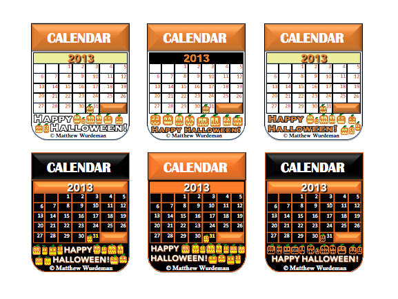 Six_Happy_Halloween_2013_Calendar_Icons_Preview_Images