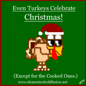 Cartton Christmas Turkey
